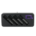 Efest LUC Blu4 4-Bay Intelligent Li-ion Battery Charger with Bluetooth Compatibility - LCD Screen - Fits 10440, 14430, 14500, 16340, 17335, 17670, 18500, 18650