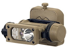 Streamlight Sidewinder Compact II 145 Hands-Free Aviation Flashlight - White, Green Blue and IR LEDs - 55 Lumens - Includes 1 x CR123A  - Comes With Various Accessories and Packaging