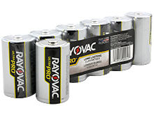 Rayovac Ultra Pro AL-D 1.5V Alkaline Button Top Batteries - 6 Pack Shrink Wrap