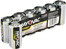 Rayovac Ultra Pro AL-C 1.5V Alkaline Button Top Batteries - 6 Pack Shrink Wrap