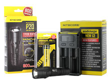 Nitecore P20 Tactical Flashlight Combo - CREE XM-L2 LED - 800 Lumens - With Battery and Charger