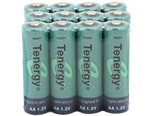 Tenergy 10308 AA (12PK) 2600mAh 1.2V Nickel Metal Hydride (NiMH) Button Top Batteries - Pack of 12