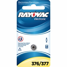 Rayovac 376/377 28mAh 1.5V Silver Oxide Coin Cell Battery (376/377-1ZM) - Retail Card