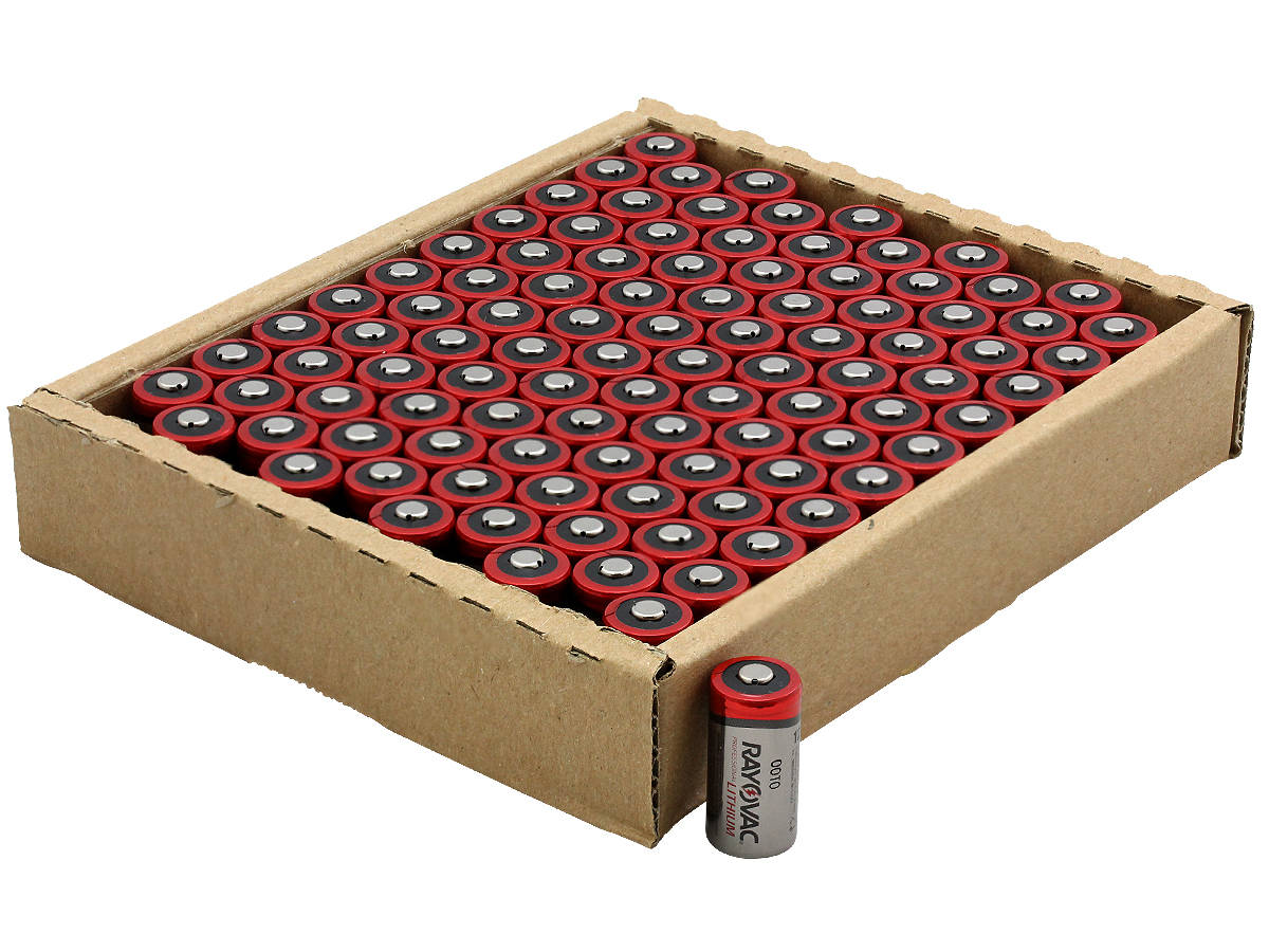 Open Package of 100 Rayovac CR123A Lithium Photo Batteries