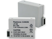 Empire BLI-384 1120mAh 7.4V Replacement Lithium Ion (Li-Ion) Digital Camera Battery Pack for the Canon LP-E8