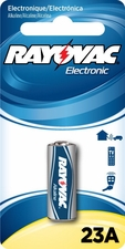 Rayovac Electronic KE 23A-1ZM 12V Alkaline Button Top Keyless Entry Battery - 1 Piece Retail Card (Mercury Free)