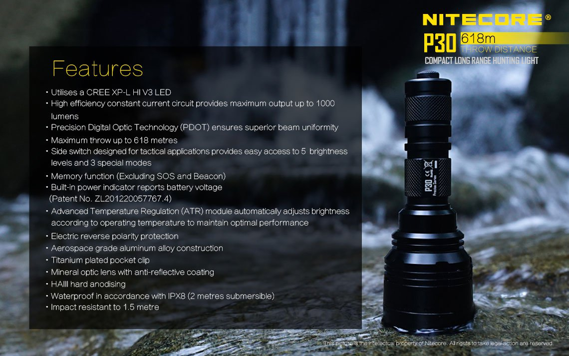 Nitecore P30 slide three
