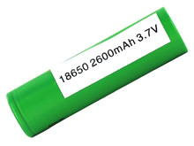 Sony VTC5 IMR 18650 2600mAh 3.6V Unprotected High-Drain 30A Lithium Manganese (LiMn2O4) Flat Top Battery - Boxed