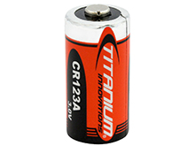 Titanium Innovations CR123A 1400mAh 3V 3A Lithium (LiMnO2) Button Top Photo Battery - Bulk