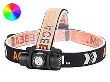 Acebeam H40 LED Headlamp - CREE XP-L HD or Luminus SST-20 - 1050 or 600 Lumens - Cool White or Neutral White - 1 x 14500 or 1 x AA