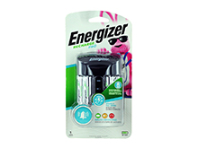 Energizer Recharge Pro Charger for AA and AAA NiMH Batteries - 4 Bay - Includes 4x AA NiMH Batteries (CHPROWB4)