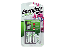 Energizer Recharge Value Charger - 4 Bays - for AA or AAA NiMH Batteries - Includes 4 x AA NiMH Batteries (CHVCMWB-4)