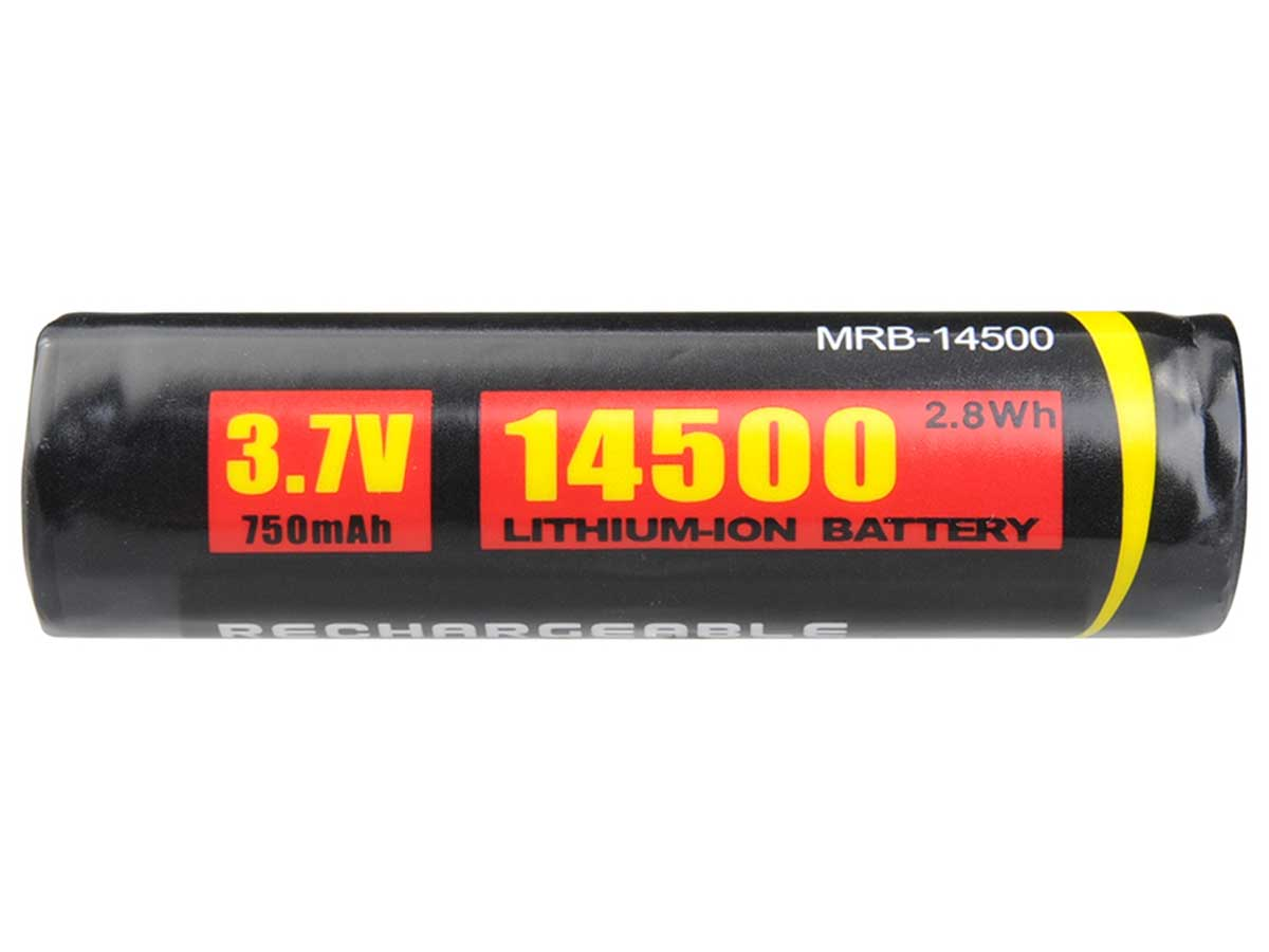 Side View of 14500 Battery