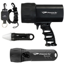 Princeton Tec NAV Pack LED Dive Light Kit - with Sector 7, Torrent and AMP 1 LC Dive Lights - Black, Blue or Neon Yellow