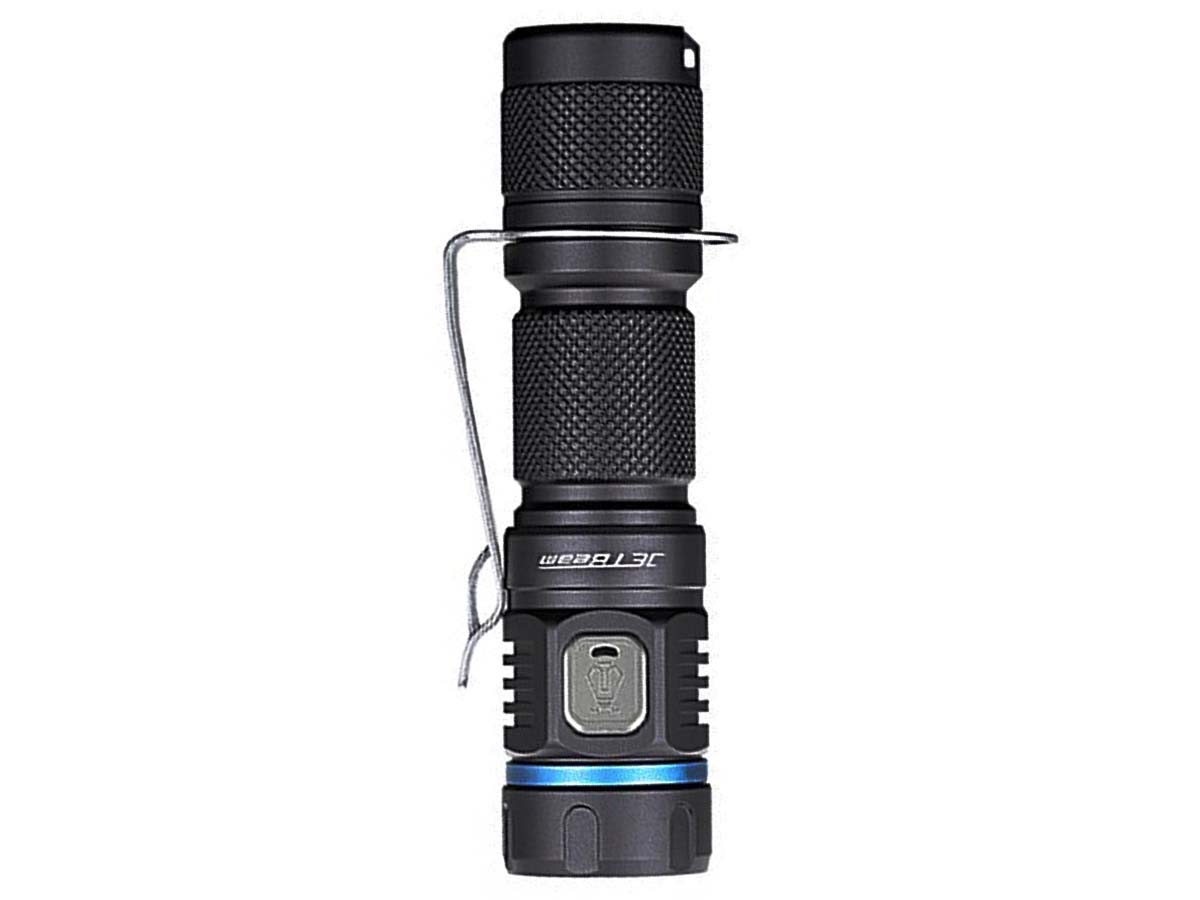 JETBeam E40R Flashlight Vertical Standing