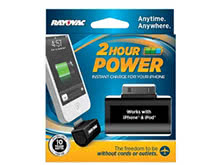 Rayovac 2 Hour Power Emergency Charger - Micro USB or Apple 30 Pin - Battery Included