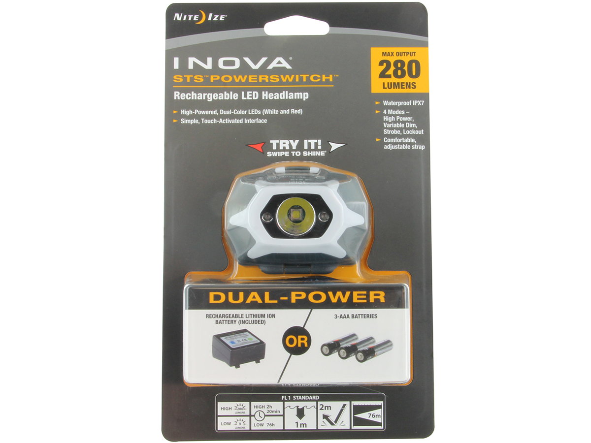 Packaging for Inova STS PowerSwitch Headlamp