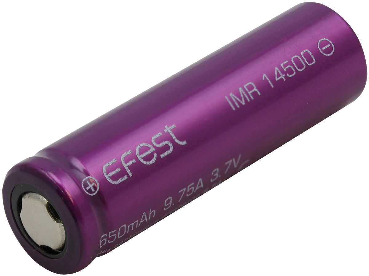Angle Shot of the Efest Purple 4341 IMR 14500