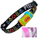 Princeton Tec Bot Kid's Headlamp - 2 x Ultrabright LEDs - 15 Lumens - Includes 2 x AAAs - Lime/Orange or Pink/Grey