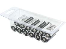 Streamlight 85177 CR123A 1400mAh 3V Lithium (LiMNO2) Button Top Batteries - 12-Pack Clam Shell