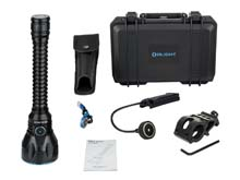 Olight Javelot Pro LED Searchlight Bundle - CREE XHP35 HI NW - 2100 Lumens - Uses Built-In Battery Pack