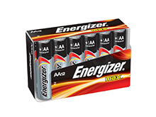 Energizer Max E91-FP-12 AA 1.5V Alkaline Button Top Batteries - 12 Piece Family Pack