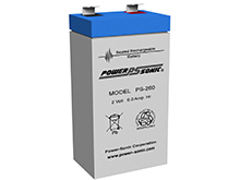 Power-Sonic AGM General Purpose PS-260 6Ah 2V Rechargeable Sealed Lead Acid (SLA) Battery - F1 Terminal