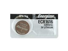 Energizer ECR1616 55mAh 3V Lithium (LiMNO2) Coin Cell Battery - 1 Piece Tear Strip, Sold Individually