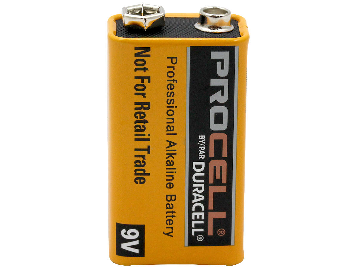 Duracell Procell 9V battery upright