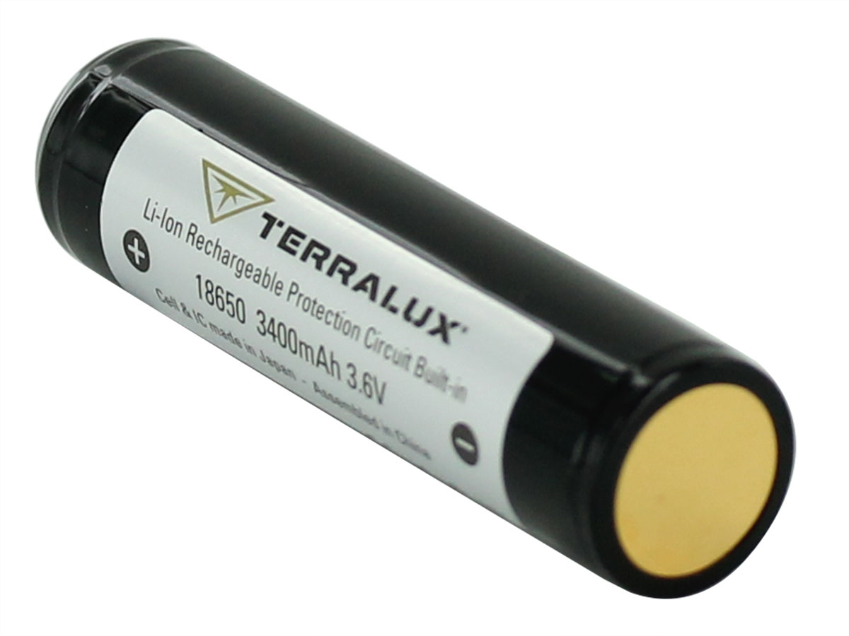 Single Terralux 18650 right side angle