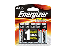 Energizer Max E91-CP-10 AA 1.5V Alkaline Button Top Batteries - 10 Piece Retail Card