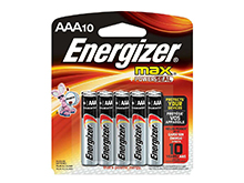 Energizer Max E92-CP-10 AAA 1.5V Alkaline Button Top Batteries - 10 Piece Retail Card