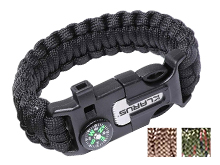 Klarus 5-in-1 Paracord Survival Bracelet Multi-Tool - 10 Feet of Paracord - Compass, Whistle, Flint - Black, Brown or Army Green