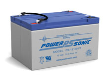 Power-Sonic PS-12100 12AH 12V Rechargeable Sealed Lead Acid (SLA) Battery - F1 Terminal