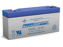 Power-Sonic PS-630 3.5AH 6V Rechargeable Sealed Lead Acid (SLA) Battery - F1 Terminal