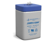 Power-Sonic PS-650L 5AH 6V Rechargeable Sealed Lead Acid (SLA) Battery - F1 or SP Terminal