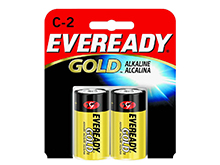 Energizer Eveready Gold A93-BP-2 C-cell 1.5V Alkaline Button Top Batteries - 2 Piece Retail Card