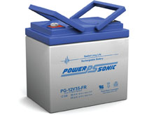 Power-Sonic PG-12V35 FR 35AH 12V Long-Life Rechargeable Sealed Lead Acid (SLA) Battery - B Terminal