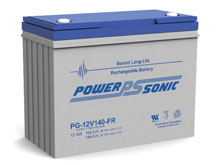 Power-Sonic PG-12V140 FR 144AH 12V Long-Life Rechargeable Sealed Lead Acid (SLA) Battery - B Terminal