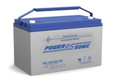 Power-Sonic PG-12V103 FR 103AH 12V Long-Life Rechargeable Sealed Lead Acid (SLA) Battery - B Terminal
