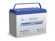 Power-Sonic PG-6V210 FR 210AH 6V Long-Life Rechargeable Sealed Lead Acid (SLA) Battery - B Terminal