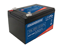 Power-Sonic PSL-BTC-12120 Bluetooth Enabled 12AH 12.8V Rechargeable Lithium Iron Phosphate (LiFePO4) Battery - F2 Terminals