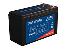 Power-Sonic PSL-BTC-1290 Bluetooth Enabled 9AH 12.8V Rechargeable Lithium Iron Phosphate (LiFePO4) Battery - F2 Terminals