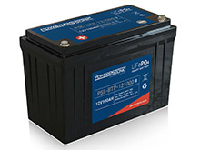 Power-Sonic PSL-BTP-121000 Blue Tooth Enabled 100AH 12.8V Rechargeable Lithium Iron Phosphate (LiFePO4) Battery - M8 Terminals