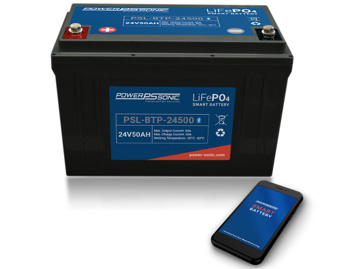 Power-Sonic PSL-BTP-24500 battery with phone