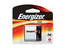 Energizer EL223-BP CR-P2 1500mAh 6V Lithium Primary (LiMNO2) Photo Battery - 1 Piece Retail Card