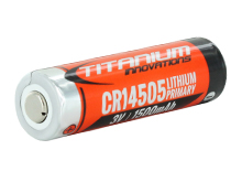 Titanium Innovations CRAA CR14505 1500mAh 3V 3A Lithium (LiMnO2) AA-Sized Button Top Batteries - Shrink Wrapped