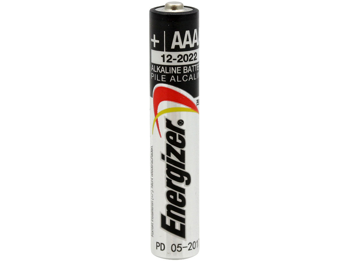 Standing Shot of the Energizer E96 AAAA Battery