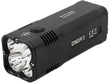 Nitecore Concept 2 (C2) Rechargeable LED Flashlight - 4 x CREE XHP35 HD LEDs - 6500 Lumens - Includes Built-In Battery Pack