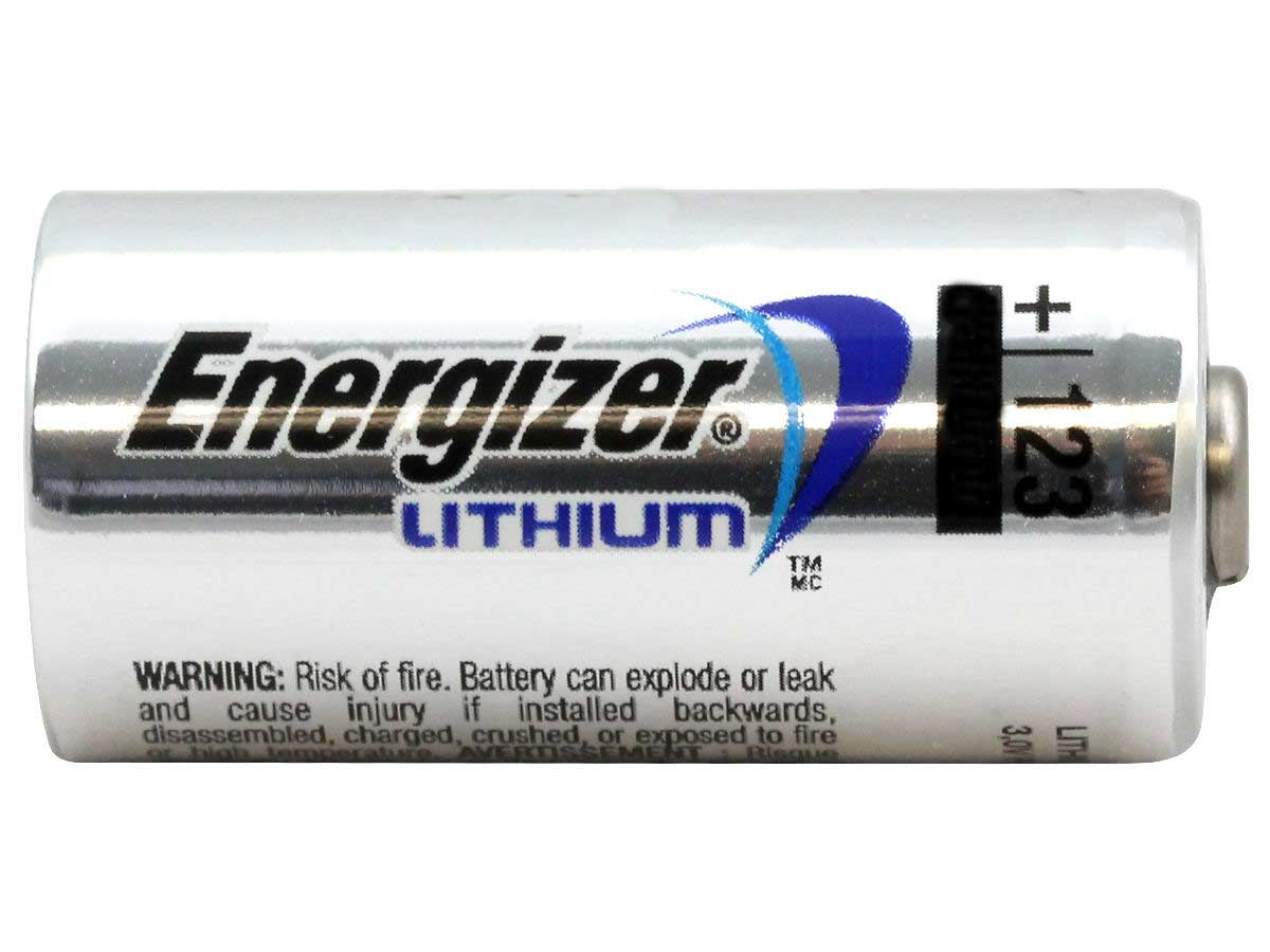 Energizer CR123A battery side profile